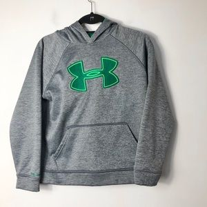 Under armour loose fit youth patch logo hoodie